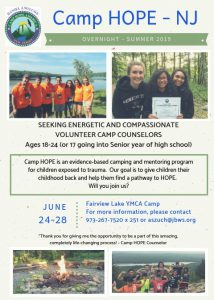 Camp HOPE counselor 2019